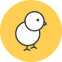 Baby Chicken Flat Icon