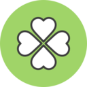 Four Leaf Clover Flat Icon