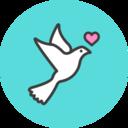 Dove Flat Icon