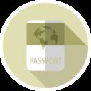 Flat Passport Icon
