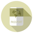 Flat Passport Icon