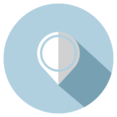 Flat Map Marker Icon
