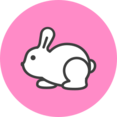 White Rabbit Flat Icon
