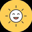Smiling Sun Flat Icon
