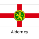 Alderney Flat Flag Icon