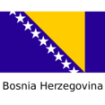 Bosnia and Herzegovina Flat Flag Icon