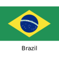 Brazil Flat Flag Icon