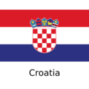 Croatia Flat Flag Icon