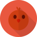 Chicken Animal Portrait Flat Icon