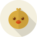 Female Chicken Animal Portrait Flat Icon