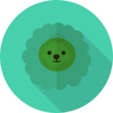 Sheep Animal Portrait Flat Icon