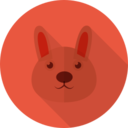 Rabbit Animal Portrait Flat Icon