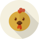 Rooster Animal Portrait Flat Icon