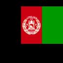 Flat Afghanistan Flag