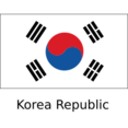 Flat Korea Republic Flag