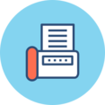 Fax Machine Flat Icon