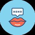 Romantic Lips Flat Icon