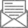 Open Letter Hand-Drawn Icon