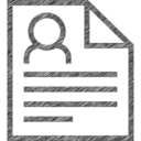 Resume Hand-Drawn Icon