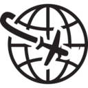 World Traveler Glyph Icon