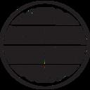 Retro Globe Glyph Icon