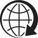 Around The World Glyph Icon