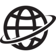 Earth's Rotation Glyph Icon