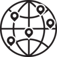 Map Marker Global Glyph Icon
