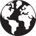 Black & White Globe Icon