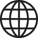 Simple Globe Glyph Icon