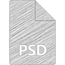 PSD File Hand-Drawn Icon