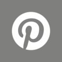 Flat Pinterest Social Media Icon