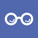 Flat Glasses Medical Icon