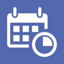 Quarterly Flat Calendar Icon