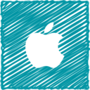 Scribble Style Apple Icon