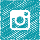 Scribble Style Instagram Icon