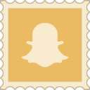 Retro Snapchat Stamp Icon