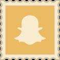 Retro Snapchat Stamp Icon