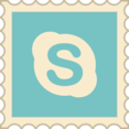 Retro Skype Stamp Icon