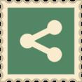 Retro Share Social Media Stamp Icon