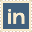 Retro LinkedIn Stamp Icon