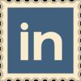 Retro LinkedIn Stamp Icon