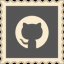 Retro Github Stamp Icon