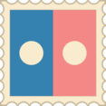 Retro Flickr Stamp Icon
