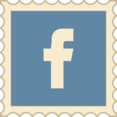 Retro Facebook Stamp Icon