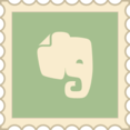 Retro Evernote Stamp Icon