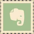 Retro Evernote Stamp Icon