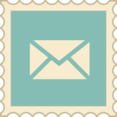 Retro Email Stamp Icon