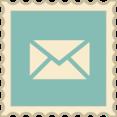Retro Email Stamp Icon