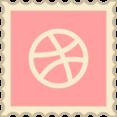 Retro Dribbble Stamp Icon